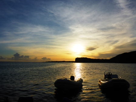 Dink and Jim Jim enjoying the sunset together