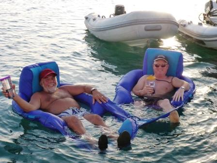 Richard and Jim enjoying their rum ration