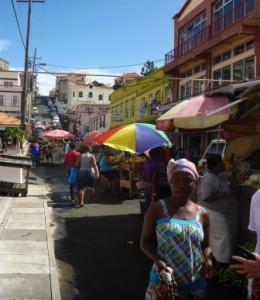 Fresh veg market