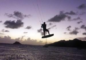 More kitesurfer acrobatics