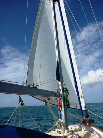 Sailing under reefed headsail only
