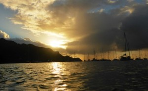 Stormy sunset tonight in Bequia