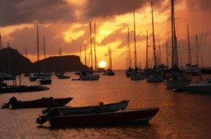 Stunning Bequia sunset
