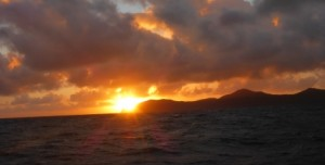 Goodbye to Bequia as the sun comes up 2