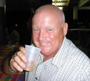 Richard enjoying the rum
