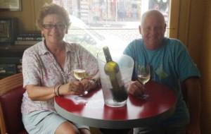 Enjoying French wine