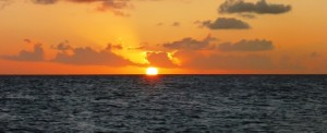 First Martinique sunset