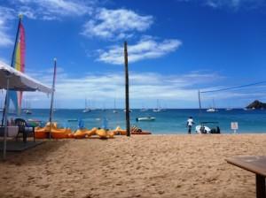 Mum's hotel beach