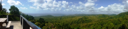 Panoramic view on the way back to Castries