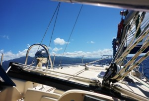 Sailing nicely