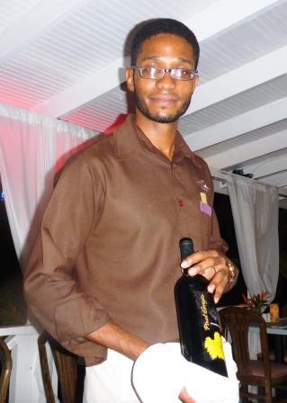 Wine waiter at Starfish