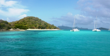 Leaving the Tobago Cays
