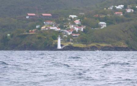 Lighthouse at bottom of Guadeloupe