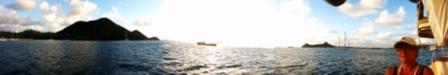 Panorama of Rodney Bay