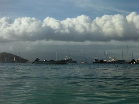 Rain over Guadeloupe