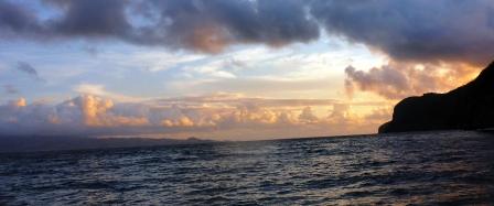 Sunrise over Bequia