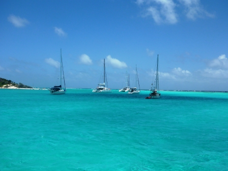 Tobago Cays anchorage