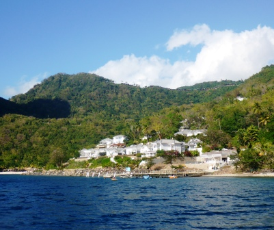 View from Piton anchorage to Ladera