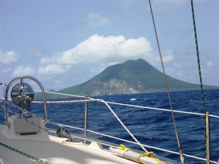 Approaching St Eustatius