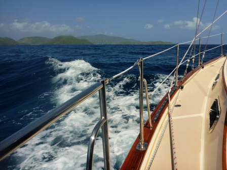 Approaching Virgin Gorda
