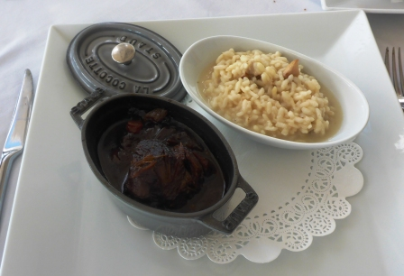 Beef & veal cheek stew with mushroom risotto main