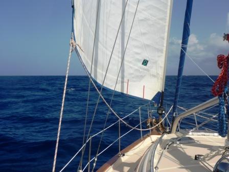 Sailing slowly....
