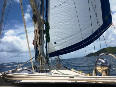 Slow downwind run to Tortola