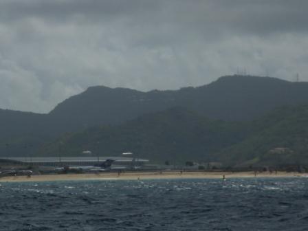 Stormy day at Maho Beach