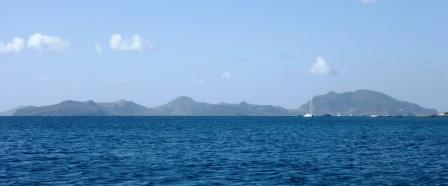 View across to St Kitts