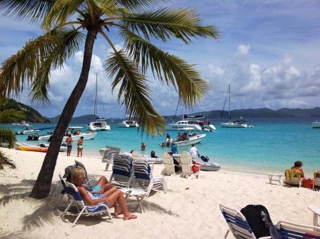Beautiful Soggy Dollar beach
