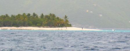 Gloomy looking Sandy Cay