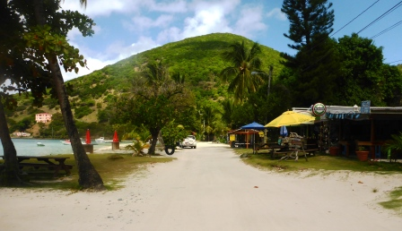 Main road, Great Harbour, Jost van Dyke