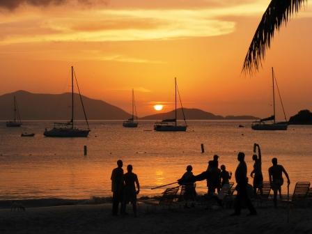 Sunset at Cane Garden Bay