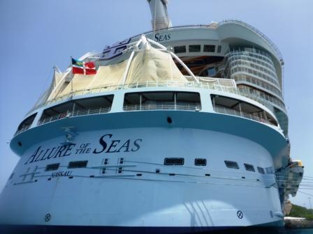 Up close and personal with a cruise ship