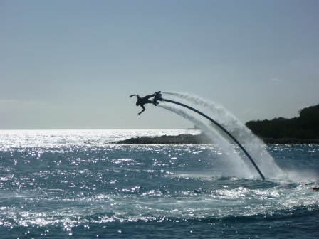 Flyboarding display