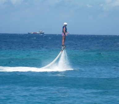 Flyboarding kid