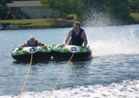 Danny and Richard tubing