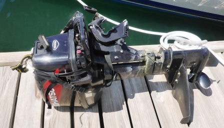 Outboard waiting for attention