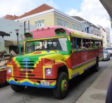 Cruise ship tour bus