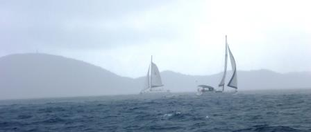 Another rainy sailing day