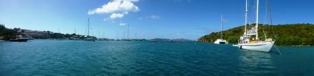 Panorama of Cruz Bay