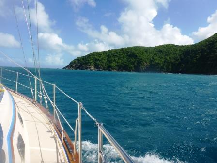 Running along the coast of Tortola