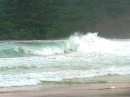 Big surf conditions