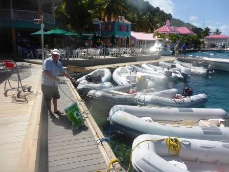 Busy on the dinghy dock