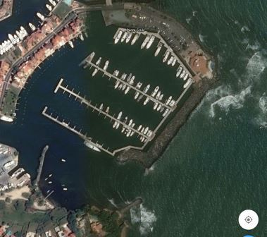 Google earth image of the marina