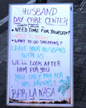 Husband day care centre!