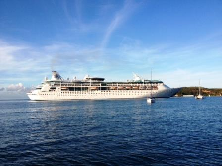 Morphie and the cruise ship
