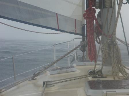 Motor sailing along.....