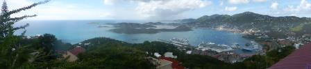 Panorama view of Charlotte Amalie
