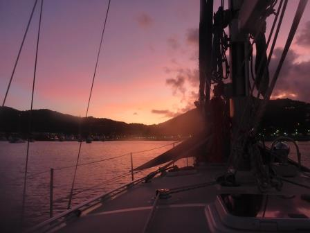 Sunrise over Charlotte Amalie